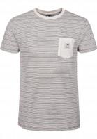 iriedaily T-Shirts Grand Pocket ecrumelange Vorderansicht
