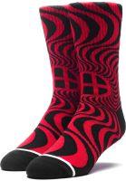 HUF Socken x Spitfire Swirl Socks red Vorderansicht 0631591