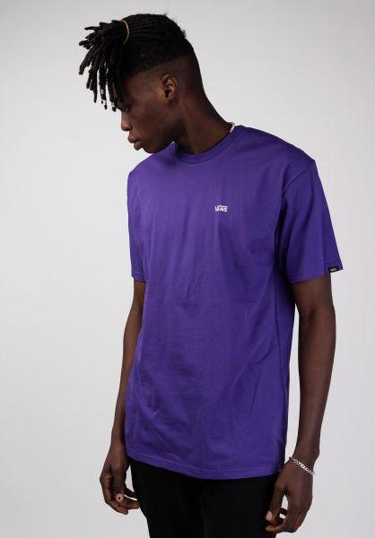 Vans T-Shirts Left Chest Logo purple vorderansicht 0397675