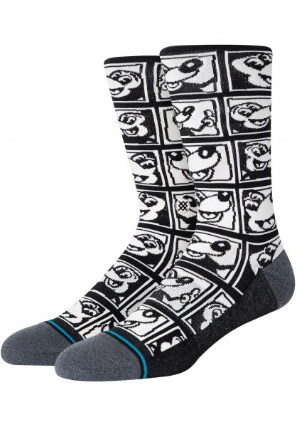 Stance Socken 1985 Haring Wmn black vorderansicht 0632177