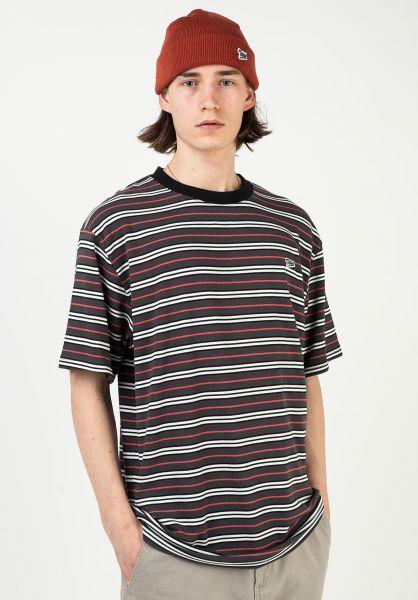TITUS T-Shirts Koa brown-striped vorderansicht 0321923