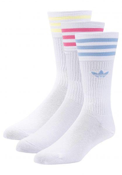 adidas Socken Solid Crew 3Pack white-multi vorderansicht 0632057