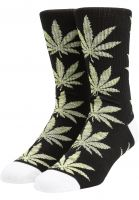 huf-socken-plantlife-melange-leaves-black-vorderansicht-0631762