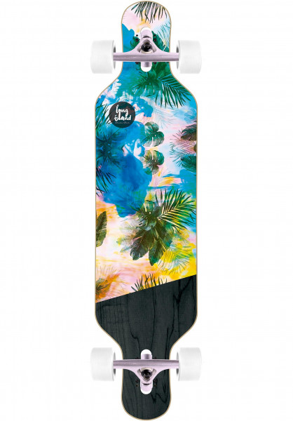 Long Island Longboards komplett Freestyle DT multicolored Vorderansicht