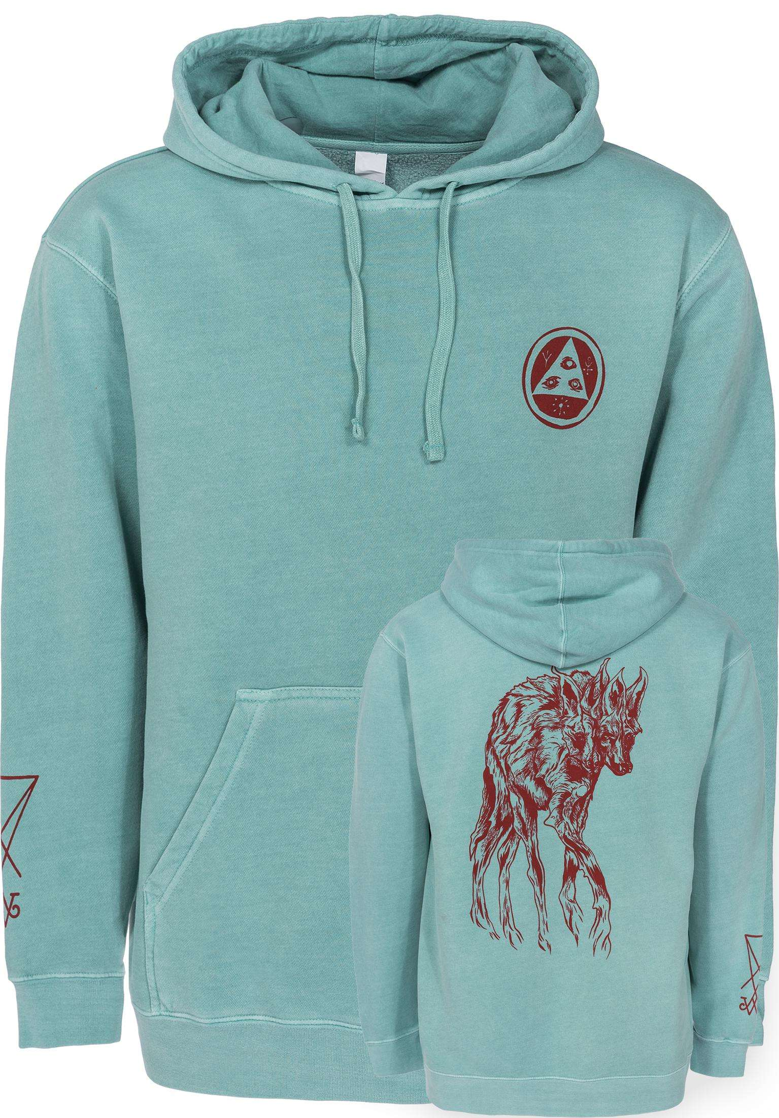 d5b06e904fb8 Maned Woof Pigment-Dyed Welcome Hoodies in mint for Men