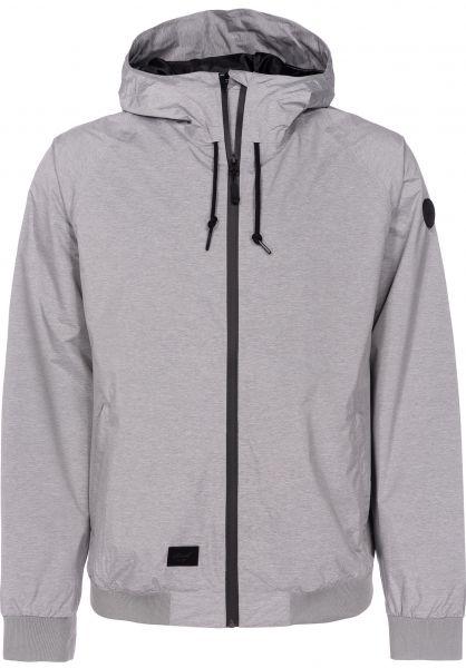 Reell Übergangsjacken Hooded Rib Jacket greymelange Vorderansicht