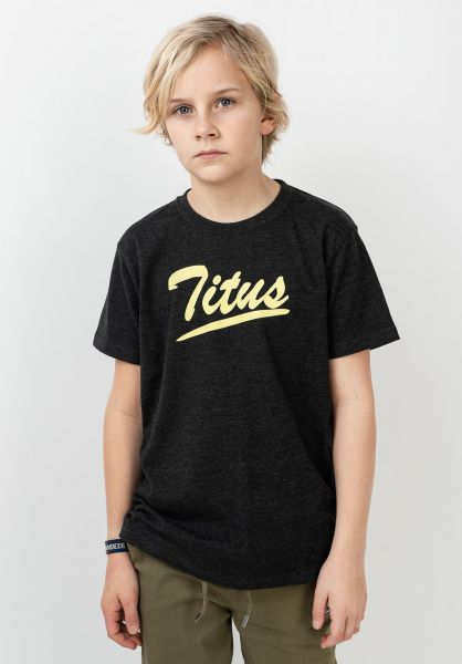 TITUS T-Shirts Mason kids darkgreymottled vorderansicht 0320799