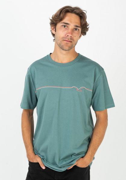 Cleptomanicx T-Shirts Möwe Lines northatlantic vorderansicht 0399749