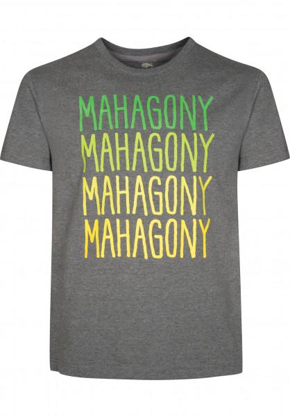 Mahagony T-Shirts Nu Typo charcoal Vorderansicht