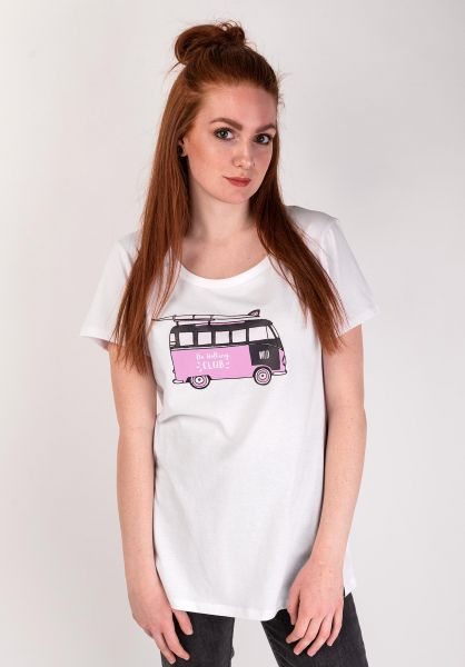 WLD T-Shirts Join-The-Club white-bus-rose vorderansicht 0399224