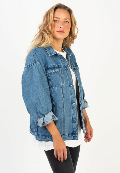 RVCA Übergangsjacken Lounger Denim washedoutblue vorderansicht 0504591