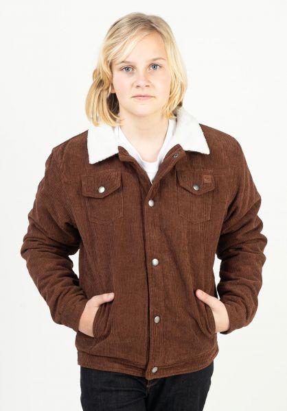 TITUS Winterjacken Ben Kids brown-cord vorderansicht 0250054
