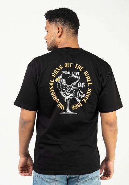 Vans T-Shirts Speak Easy black vorderansicht 0323462