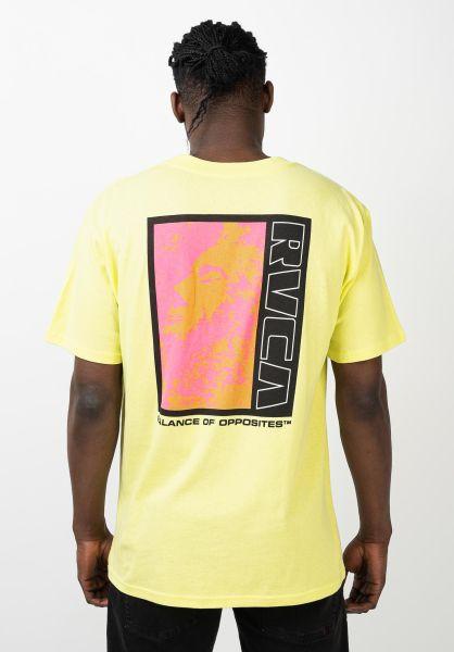 RVCA T-Shirts Monolith limeade vorderansicht 0321839