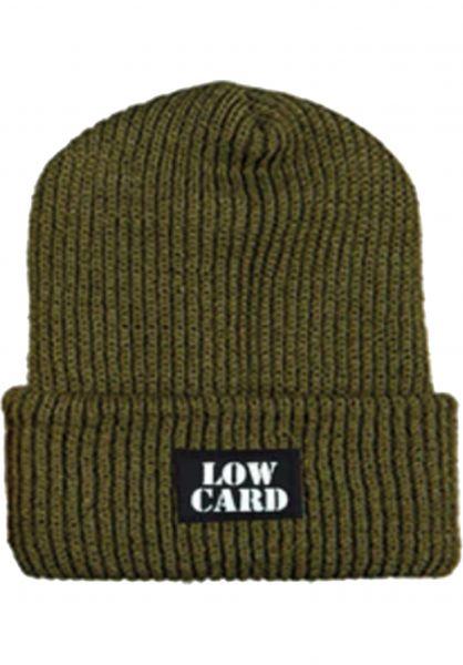Lowcard Mützen Longshoreman army-green vorderansicht 0571009