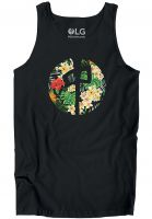 Red-Dragon Tank-Tops Tropics Point black Vorderansicht