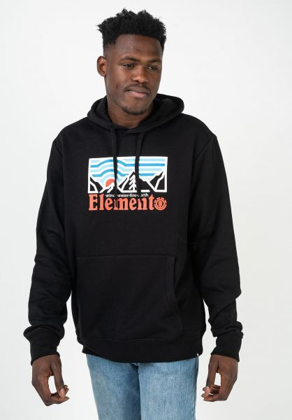 Element Hoodies Wander flintblack vorderansicht 0446095
