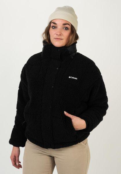 Columbia Winterjacken Baffled Sherpa black vorderansicht 0250213