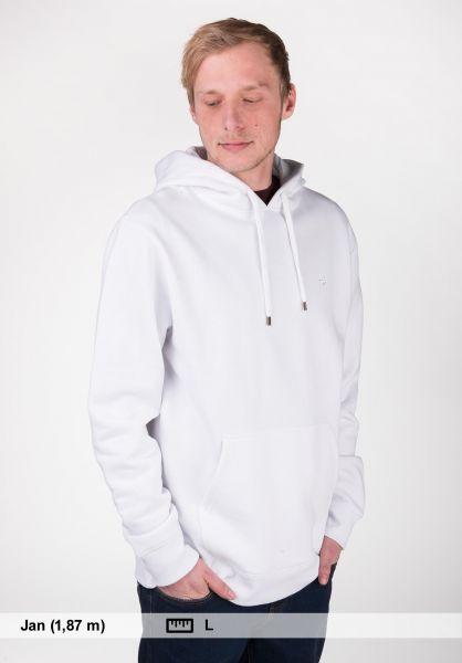 TITUS Hoodies Uni Hood white Rueckenansicht