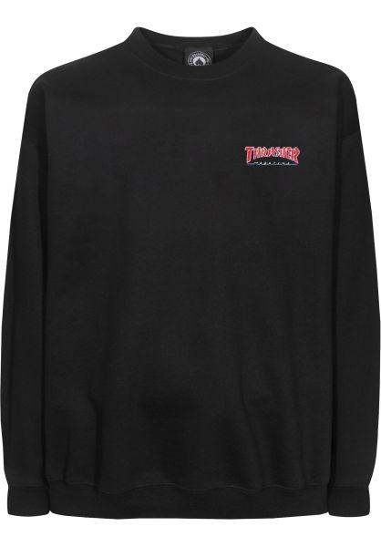 Thrasher Longsleeves Outlined Embroidered LS black vorderansicht 0383143