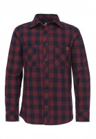 TITUS Hemden Adam Light Kids navy-burgundy-checked Vorderansicht