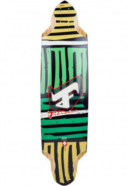 Fibretec Longboard Decks Flying Pan Classic TM green Vorderansicht