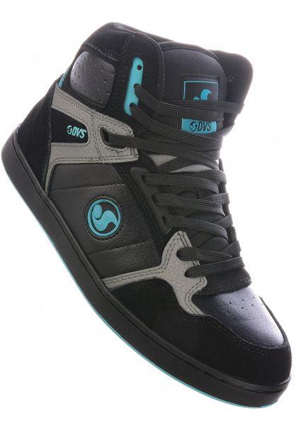 DVS Alle Schuhe Honcho black-charcoal-turquoise vorderansicht 0605018
