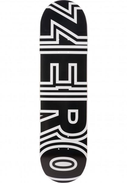 Zero Skateboard Decks Bold R7 black-white Vorderansicht