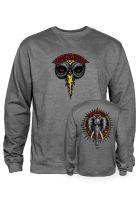 powell-peralta-sweatshirts-und-pullover-vallely-elephant-gunmetal-heather-vorderansicht-0422760