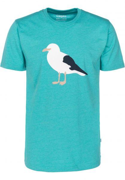 Cleptomanicx T-Shirts Gull 3 heathercolumbia vorderansicht 0397435