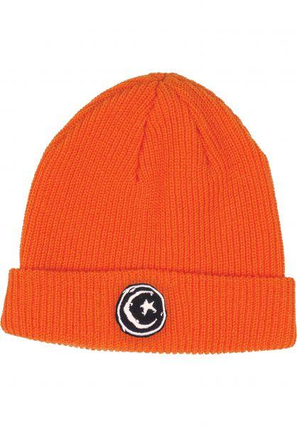 Foundation Mützen Star & Moon orange vorderansicht 0572622