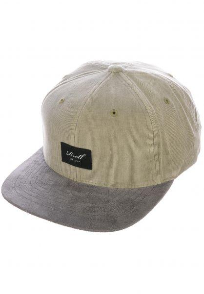 Reell Caps Suede 6-Panel greygreen-ribcord vorderansicht 0564484