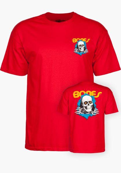 Powell-Peralta T-Shirts Ripper red vorderansicht 0363344