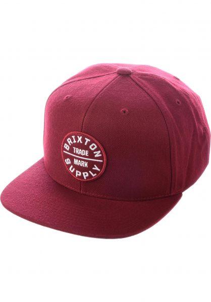 Brixton Caps Oath III burgundy-burgundy Vorderansicht