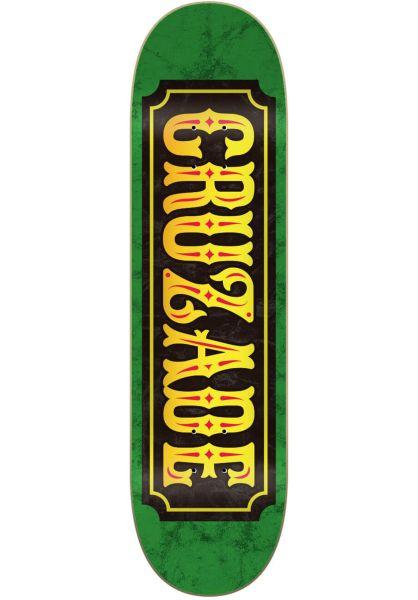 Cruzade Skateboard Decks Stamp Double Tail green vorderansicht 0265372