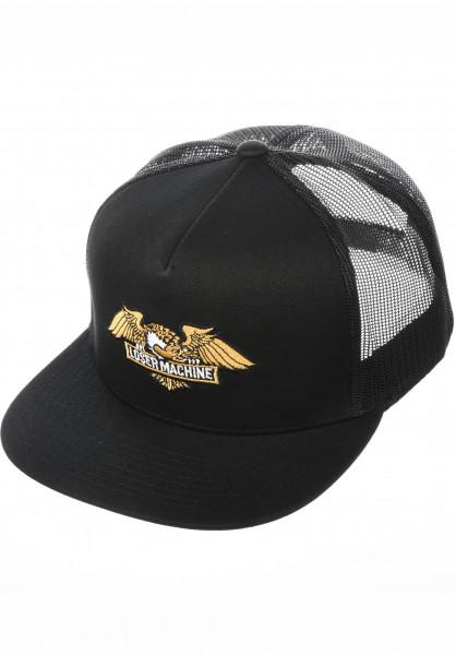 Loser-Machine Caps Wings Trucker black Vorderansicht