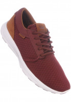 Supra Alle Schuhe Hammer Run burgundy-brown-white Vorderansicht