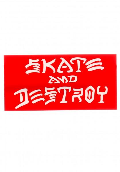 Thrasher Verschiedenes Skate and Destroy Medium Sticker red Vorderansicht