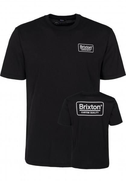 Brixton T-Shirts Palmer black-grey Vorderansicht