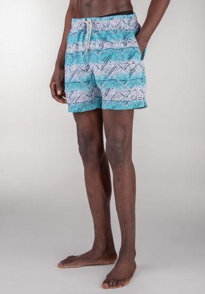 "Billabong Beachwear Sunday Pigment Layback 16"" aqua vorderansicht 0205290"