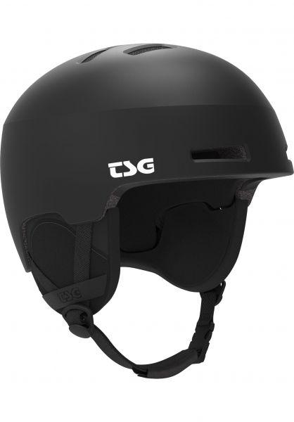 TSG Snowboardhelme Tweak Solid Color satin black Vorderansicht