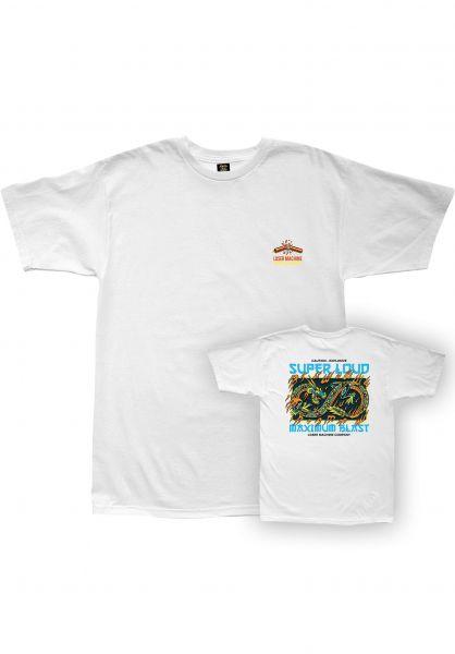 Loser-Machine T-Shirts Dragon Fire white vorderansicht 0321871