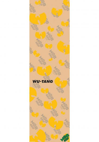 MOB-Griptape Griptape Wu-Tang Clan Stencil Pattern CLEAR clear-yellow vorderansicht 0142350