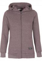 Forvert-Zip-Hoodies-Finchen-burgundy-grey-Vorderansicht