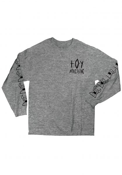Toy-Machine Longsleeves Sketchy Monster heathergrey vorderansicht 0382750
