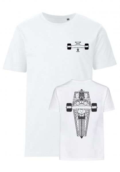 Rebel Rockers T-Shirts Truckleg white vorderansicht 0320746