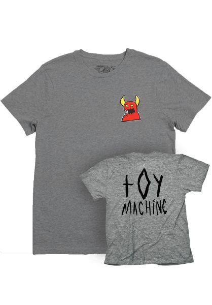 Toy-Machine T-Shirts Sketchy Monster heathergrey vorderansicht 0398531