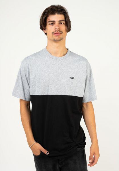 Vans T-Shirts Colorblock athleticheather-black vorderansicht 0397884