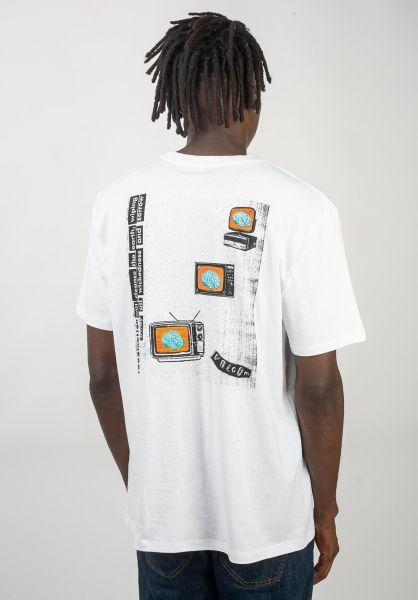 Volcom T-Shirts Thinker Boxy Cut white vorderansicht 0320378