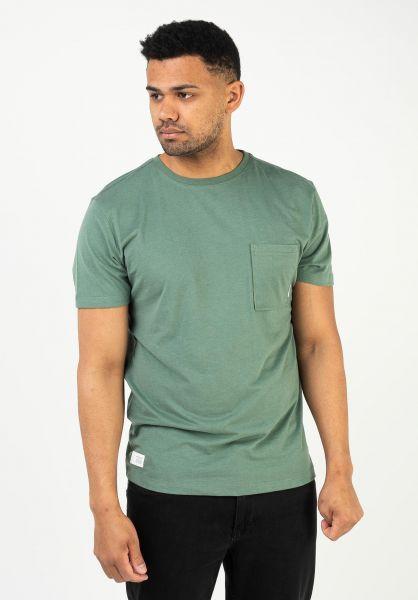 Mazine T-Shirts Burwood Pocket forest vorderansicht 0324068